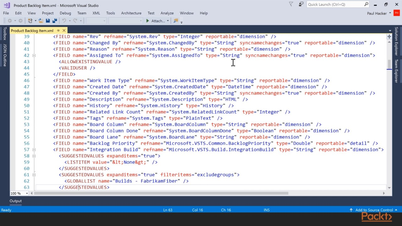 Introducing Microsoft Team Foundation Server 2017 : The Course Overview |  packtpub com