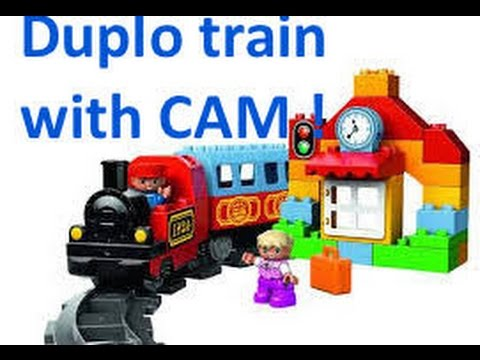 Train with onboard cam! Lego duplo |
