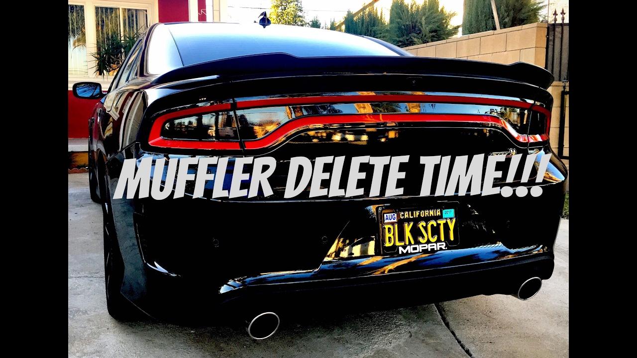 dodge challenger mid mufdler delete how to