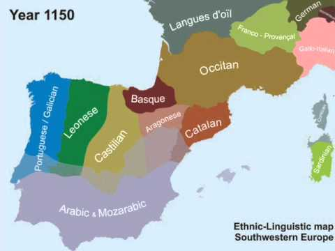 Ethnic - Linguistic map Southwestern Europe - Complete - YouTube