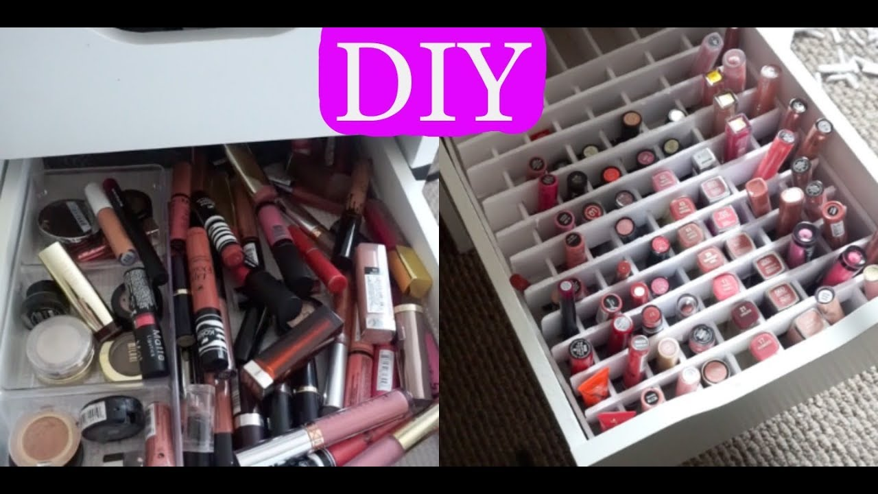 Diy lipstick organizer for alex drawers youtube diy lipstick organizer for alex drawers solutioingenieria Gallery