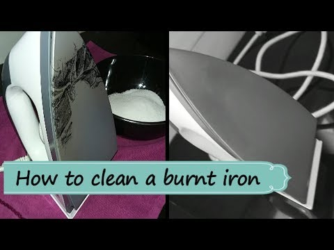 How to clean a burnt iron/Tips/അയേണ് ബോക്സില് പറ്റിപിടിച്ച കറകളയാന് /100%