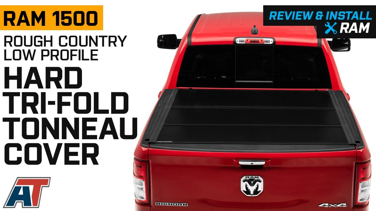 2019 2020 Ram 1500 Rough Country Low Profile Hard Tri Fold Tonneau Cover Review Install Youtube