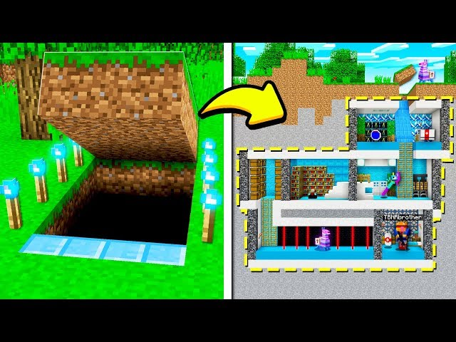 I FOUND MY LITTLE BROTHER'S *SECRET* FORTNITE HOUSE in MINECRAFT!