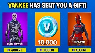 NEW GIFTING UPDATE IS HERE! HOW TO GIFT SKINS in FORTNITE [HOW TO UNLOCK FREE SKINS in FORTNITE]