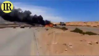 Bombardeo de la aviación rusa al GNA a las afueras de Sirte