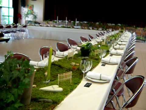 Mariage christophe delphine deco table theme nature et jardin youtube - Idee deco table de fete ...
