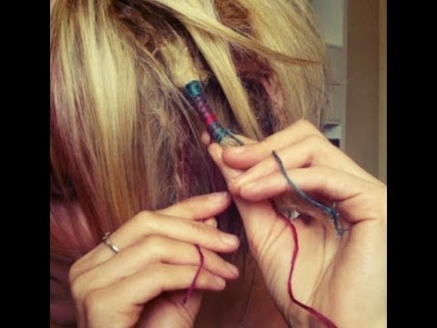 How to Do a Hair Wrap With String - YouTube
