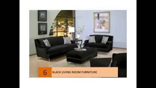 Modern Black Living Room Furniture Design Ideas And Pictures