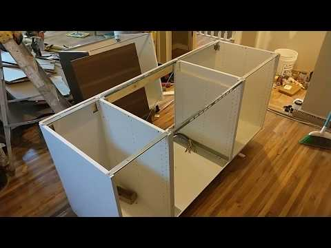EASY - How to Install an Ikea Kitchen Island - YouTube