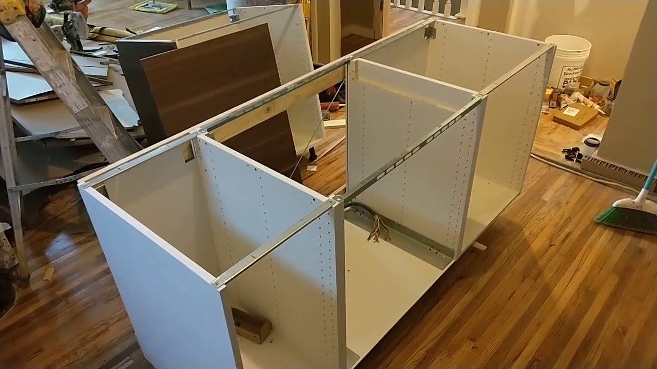 EASY How To Install An Ikea Kitchen Island YouTube