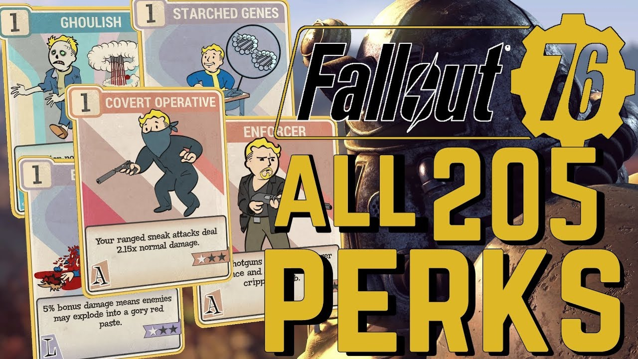 Fallout 76 Guide: All The Best And Worst S P E C I A L Perk