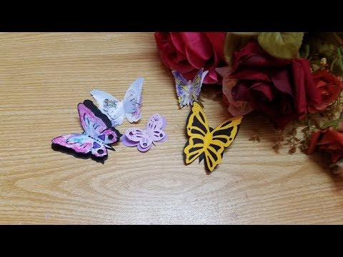 How to make diy paper butterflies🦋 for Craft Projects