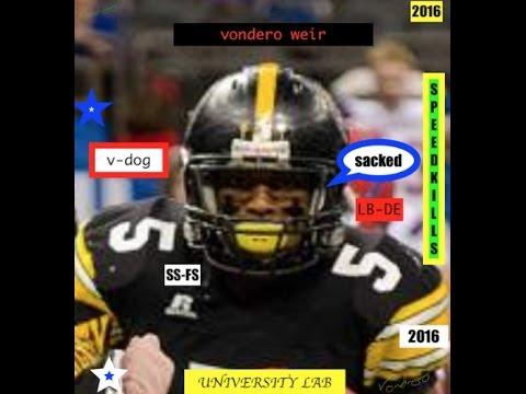 High School Football Highlights 2015-Vondero Weir-#5 D-End LB highlight tape