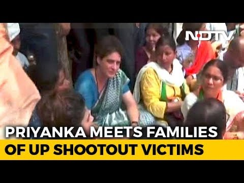Priyanka Gandhi, In Detention, Meets Families Of UP Shootout Victims