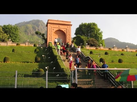 Chashme Shahi - Beautiful Mughal Garden at Srinagar, India - Kashmir Tourism  HD Video