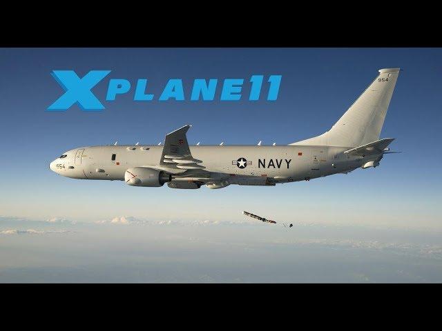 X Plane 11 | ZIBO P-8 POSEIDON | KEDW - KBYS | DIRT STRIP