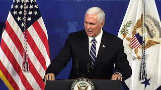 Vice President Mike Pence: 'The Heritage Foundation Is a Flagship of Freedom'