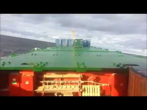 Cargo Ship rolling at the Baltic Sea and North Sea