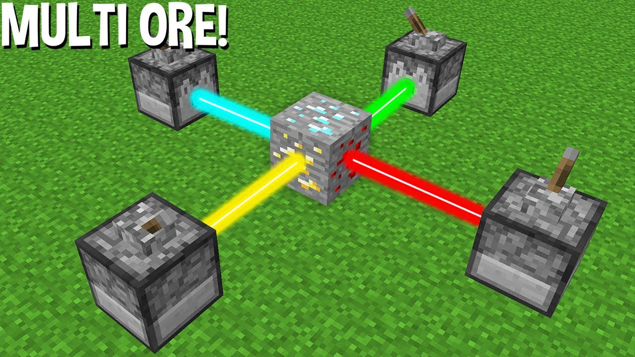 LIKE this CAN CREATE MULTI ORE using LASER in Minecraft ! NEW ORE ?