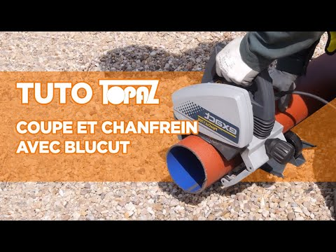 Cutting and chamfering SEWAGE ductile iron pipe with BluCut machine