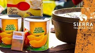 Peach Cobbler - Delicious And Easy Dutch Oven Recipe