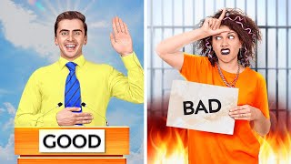 GOOD STUDENT VS BAD STUDENT || Funny Situations! Types Of Students At School By 123 GO! Challenge
