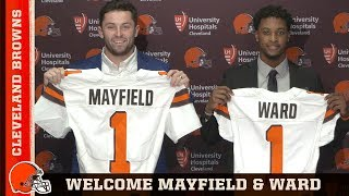 Baker Mayfield and Denzel Ward introductory press conference   Cleveland Browns