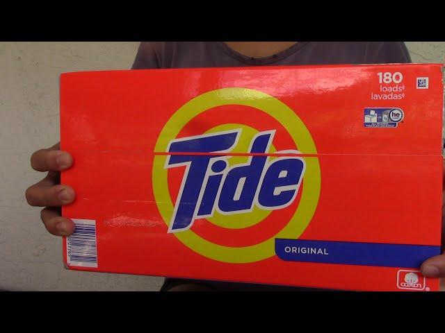Tide Powder Laundry Detergent Original Scent 254 oz 180 loads 15.8 lbs Unboxing | Detergent | Tide