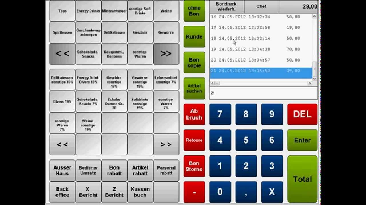 Kassensystem F 252 R Den Einzelhandel Handel Einfach Zu