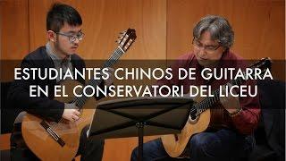 Estudiantes chinos de guitarra en el Conservatori del Liceu