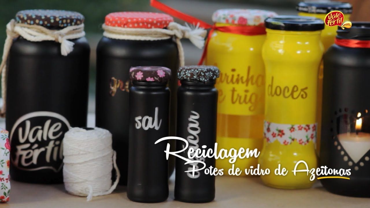 Adesivo De Geladeira Rio De Janeiro ~ Vale Dica Reciclagem de Potes de Vidros de Azeitonas YouTube