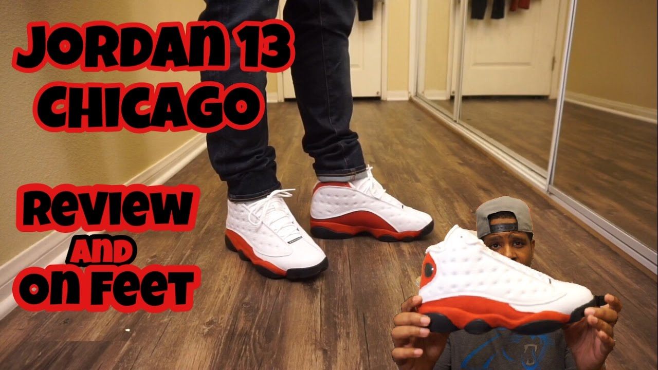 e91b60f800b Jordan Chicago 13 w  on Foot review!! - YouTube