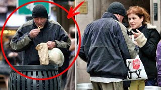 Woman gave food to a homeless person, not knowing who he really was... The whole WORLD knows him.