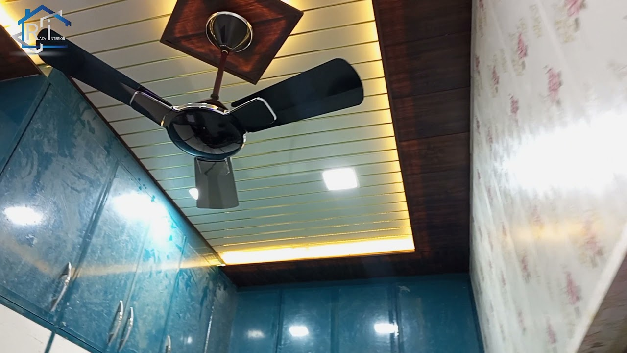 PVC Ceiling Design in kitchen / kitchen pvc wall and ceiling panel installation