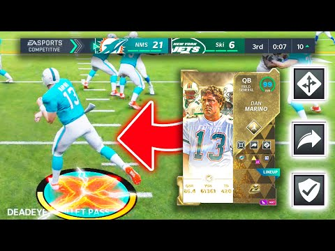 YOU WONT BELIEVE THIS BUNDLE...DAN MARINO HAS AN AIMBOT! 100% PASSES COMPLETED! - Madden 21 |