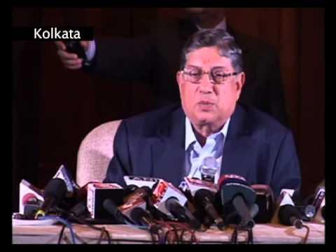 BCCI chief N Srinivasan press conference interview-IPL6 investigation committe & IPL2013 spot fixing