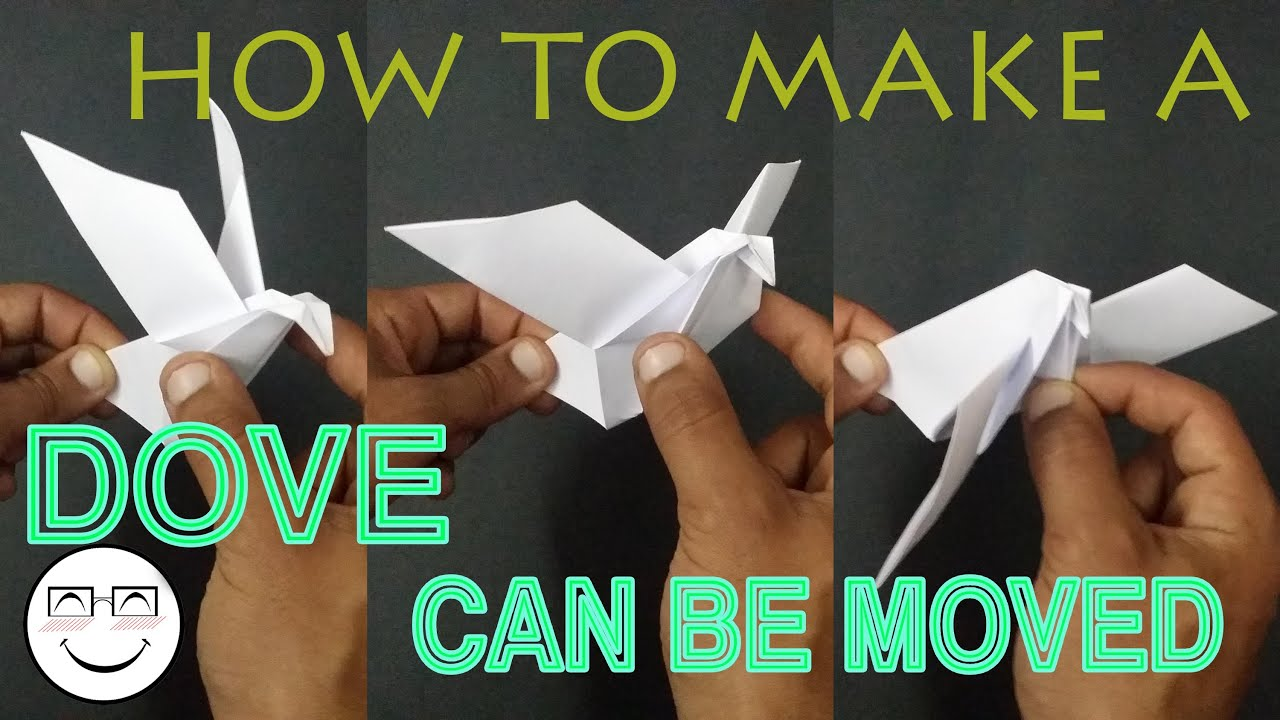 How to make an easy/quick origami dove can be moved ... - photo#38