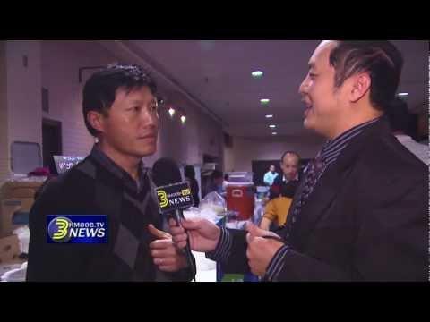 3HmoobTV - Kabyeej Jeff Wang talks to owner of Palace Pizzas at Hmong MN New Year 2013