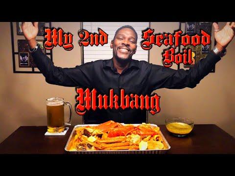 My 2nd Seafood Boil Mukbang / MKBites / ASMR / LOBSTER, SNOWCRAB, SHRIMP, & MORE...