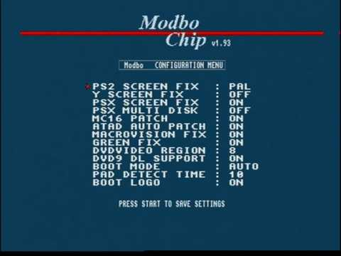 Modchipped PS2 How to change settings