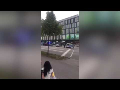 Police Cordon Off Hanauer Street Amid Response to Mall Shooting in Munich