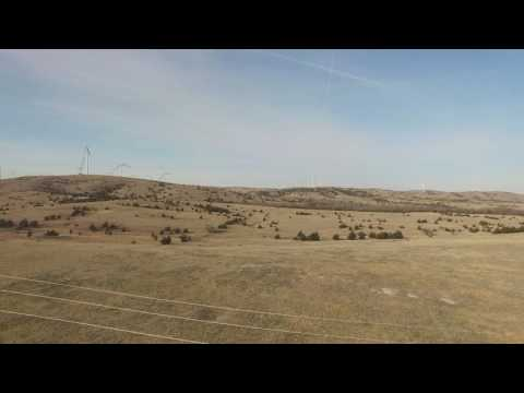 Birds eye view - Blue Canyon Wind Farm Maintenance
