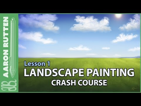 How to Paint a Cloudy Sky – Landscape Painting Crash Course (Lesson 1)