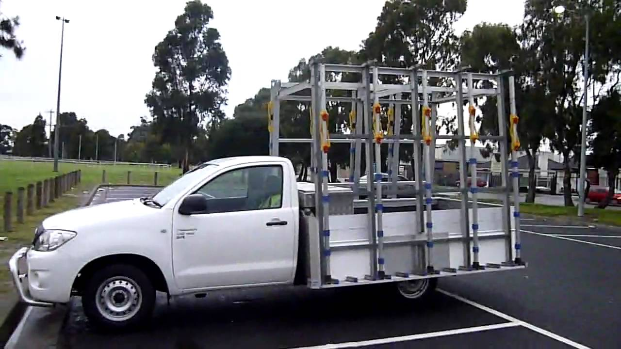 The Glass Racking Company Ute Glass Rack 2 7m X 2 2m Walk