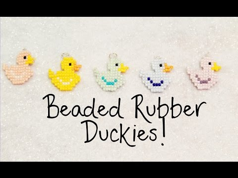 DIY Beaded Rubber Duck Square Stitch Charm Tutorial ¦ The Corner of Craft