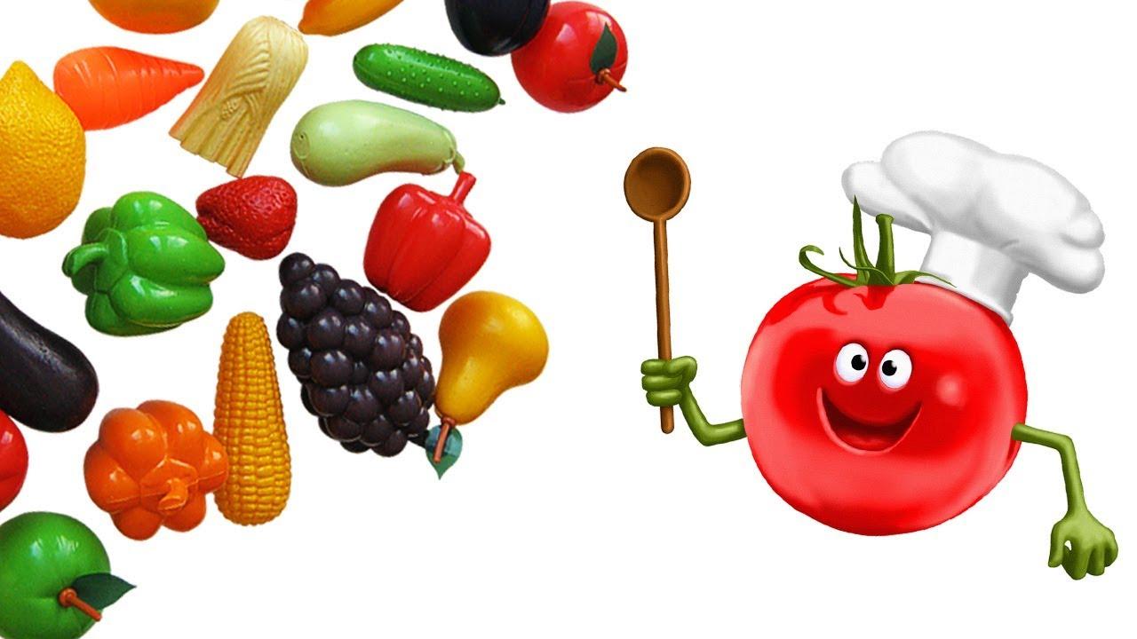Учим Овощи и Фрукты | Режем и Готовим Овощи и Фрукты на ...