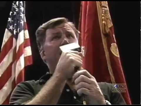 Jerry Quarry sings the United States National Anthem