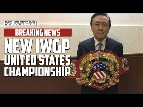 BREAKING NEWS: New Japan Pro Wrestling Introduces New IWGP United States Championship