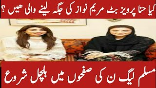 Big breaking news about muslim league N lovers. Is Hannah parvaz butt to replace Maryam nawaz.